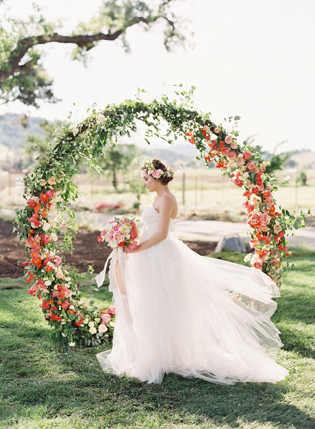circular ramo redondo hoop bouquet aro