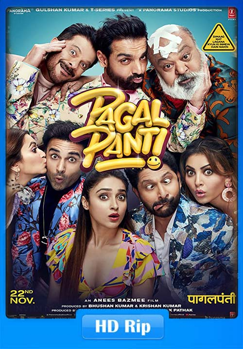 Pagalpanti 2019 Hindi 720p HDRip ESub x264 | 480p 300MB | 100MB HEVC