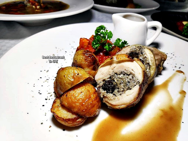 The Club @ G Tower Hotel New Menu - Roasted Chicken Roulade