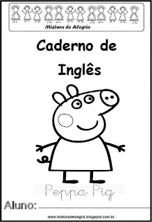 Capa caderno para inglês