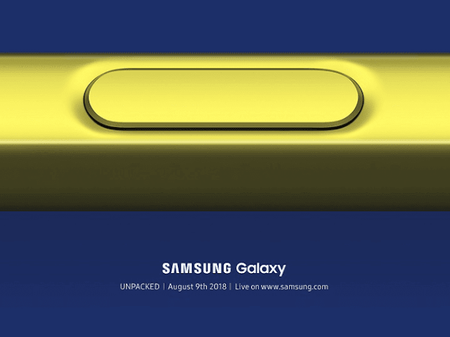 Samsung Galaxy Note9 Launching on August 9