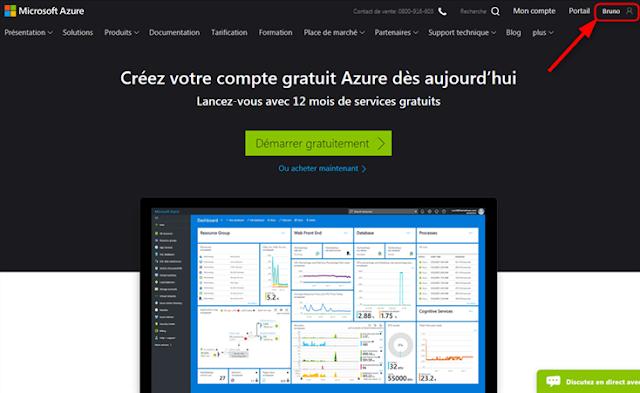 Azure Cloud - Créer un compte gratuit