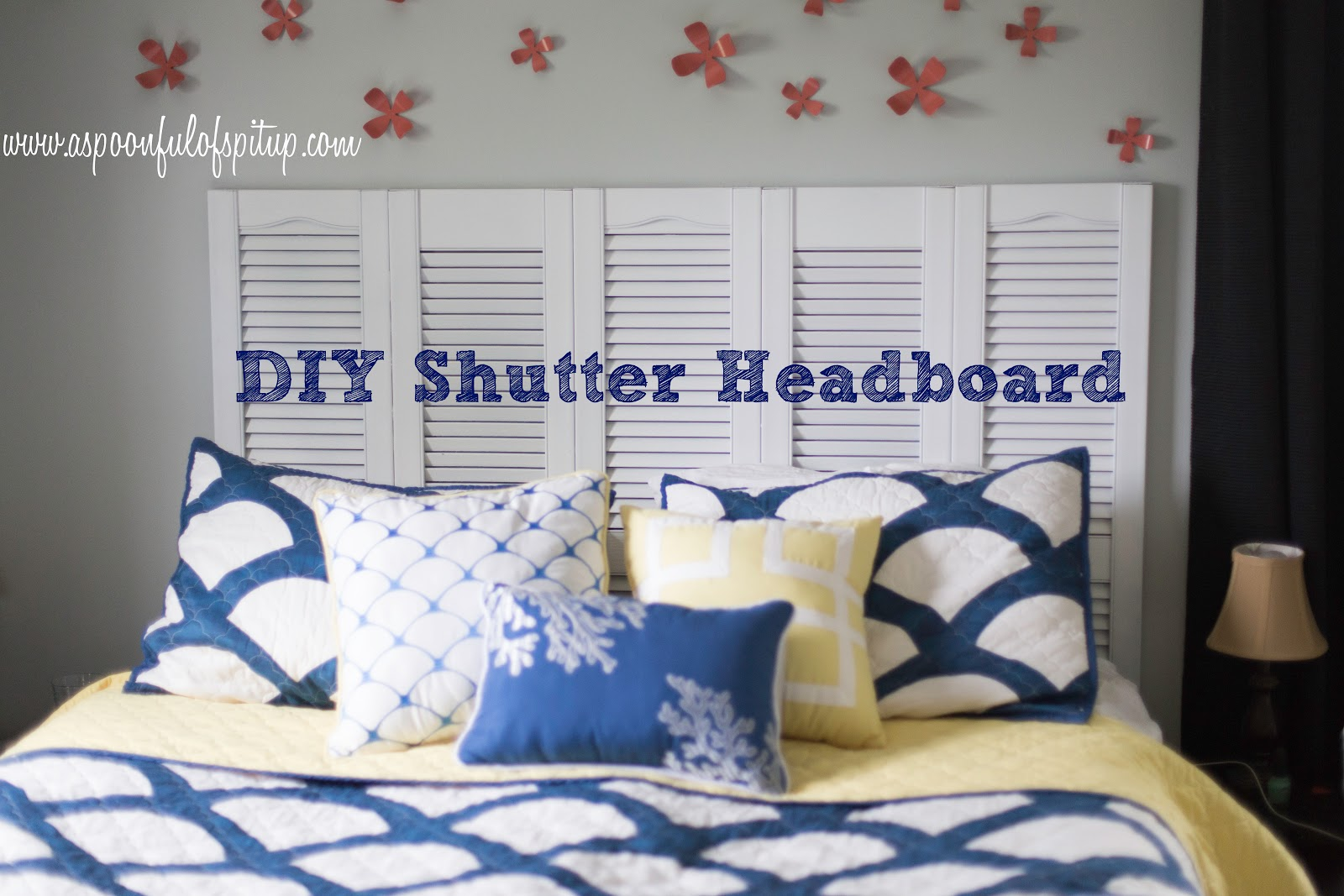 $20 DIY Shutter Headboard