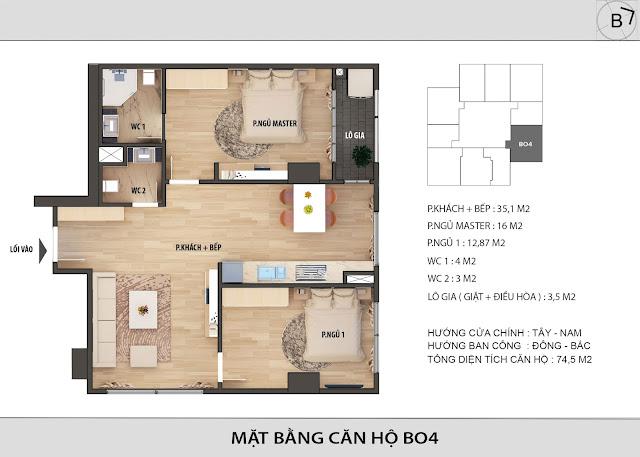 Chi tiết căn hộ B04