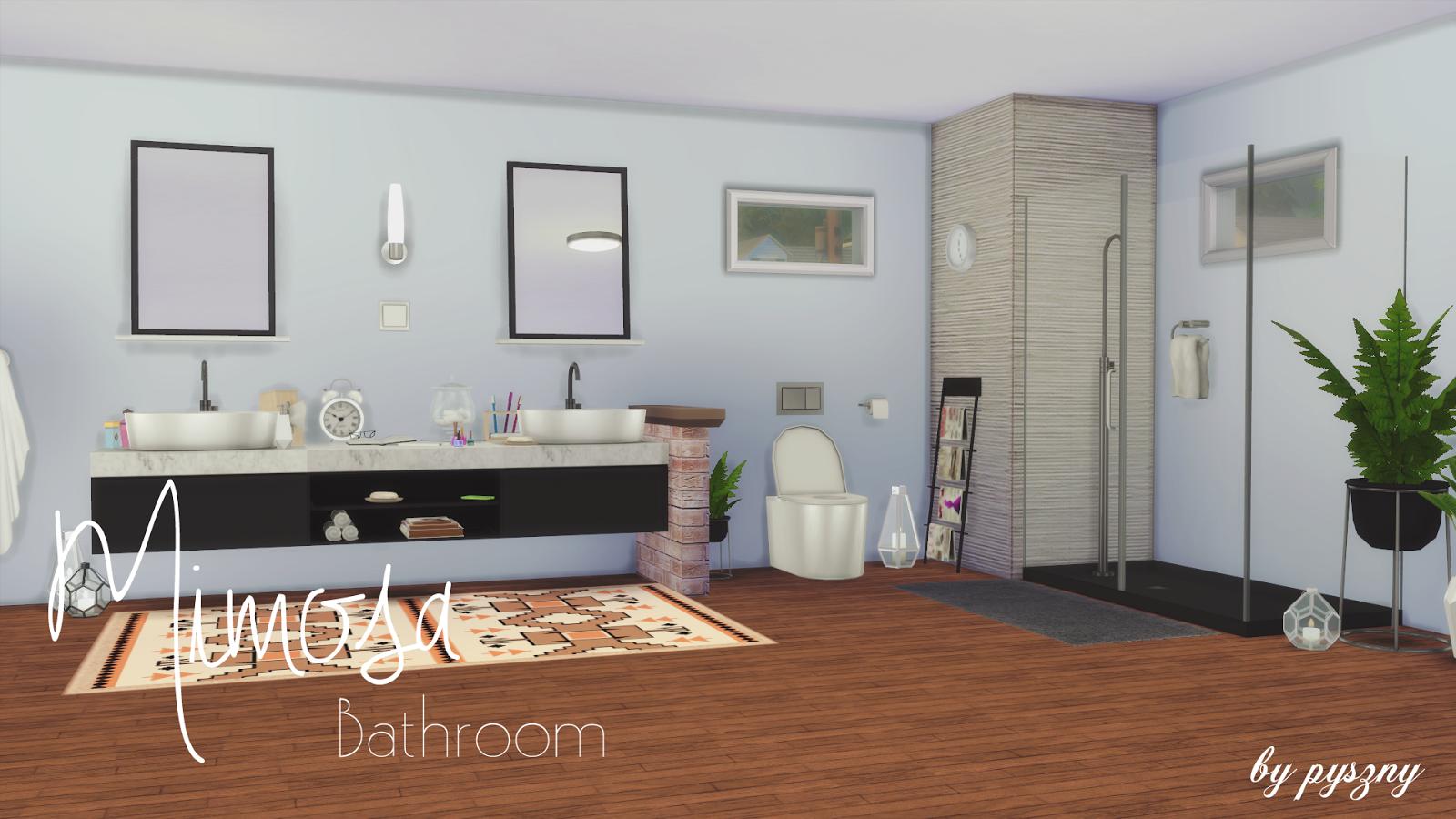 Mimosa bathroom set for Bathroom decor sims 3