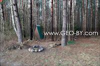 СT Лесное-Ливье. Сарай в лесу и очаг