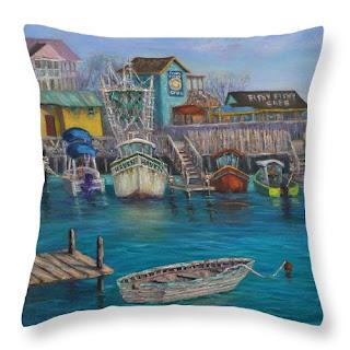 Home Decor Portsmouth Beach Coastal Throw Pillow
