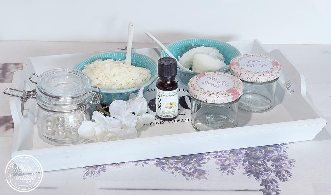 Gesichtscreme und Lippenpflege mit Ingweröl selber machen.