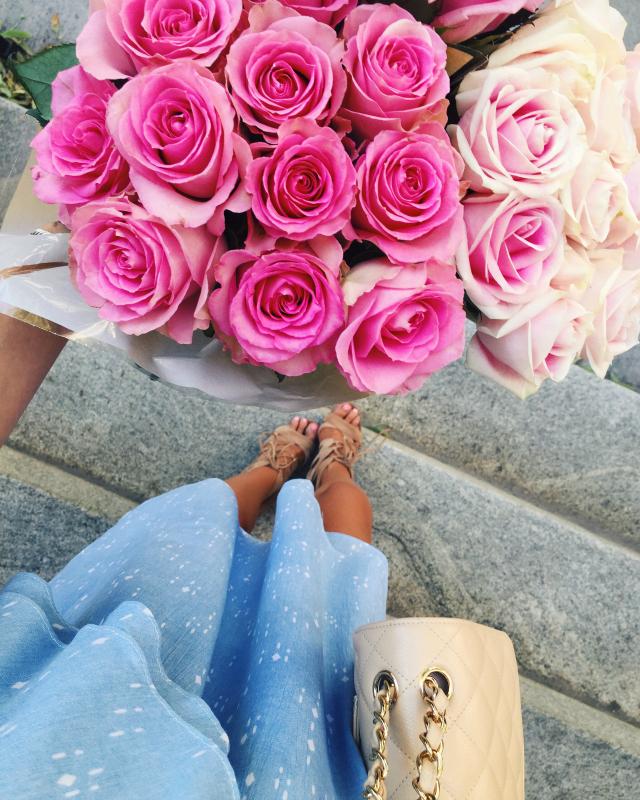 pink roses instagram