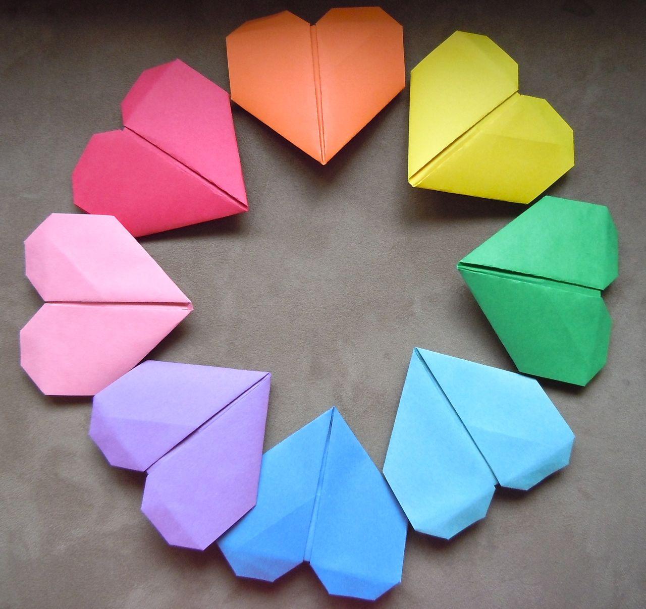 Life at the bay: DIY: Origami Heart Bookmark - photo#30