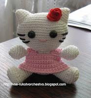 Hello Kitty - описание вязания игрушки