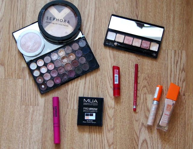 Selection of makeup
