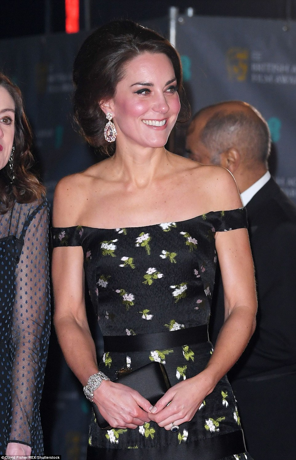 Kate Middleton in Alexander McQueen Dress at BAFTA Awards 2017