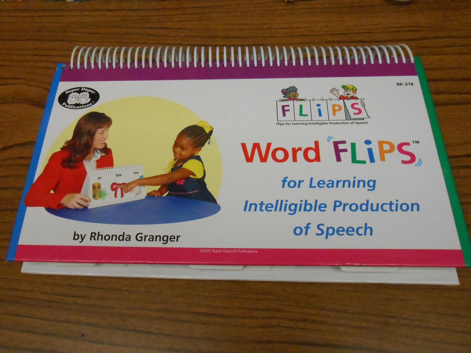 ... Word FLIPS (For Learning Intelligible Production of Speech) book from  Super Duper, Inc. I use it for 3-5 minutes at the start of my sessions.