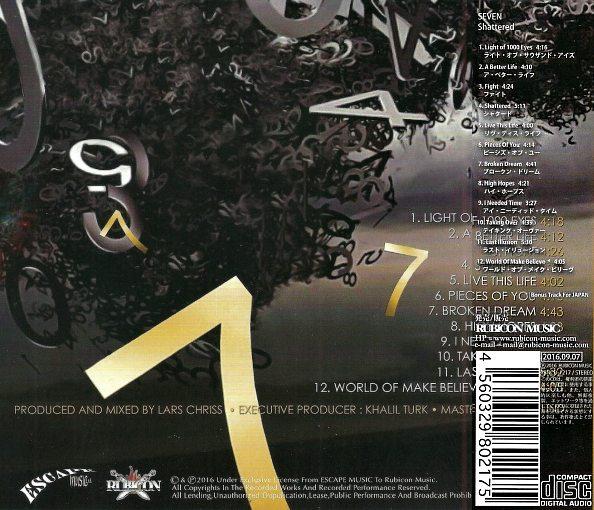 SEVEN - Shattered [Japan Edition +1] (2016) back