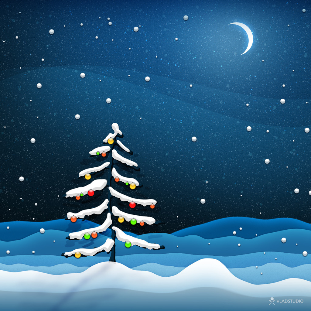 iPad Wallpapers: Free Download Christmas Scenery iPad mini ...