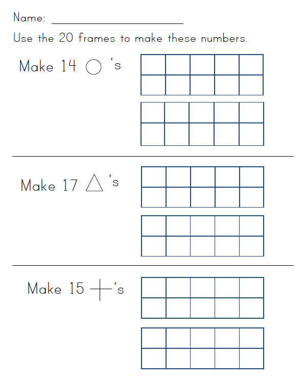 Subtraction » Subtraction Worksheets With Ten Frames ...