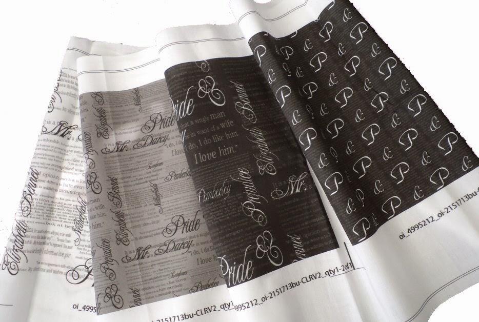 Pride & Prejudice Spoonflower fabric by eSheep Designs