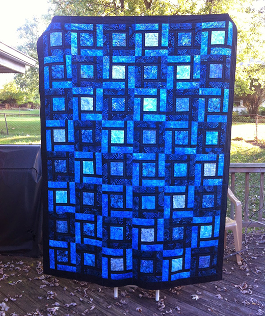 Blue Bayou Bed Quilt Free Tutorial