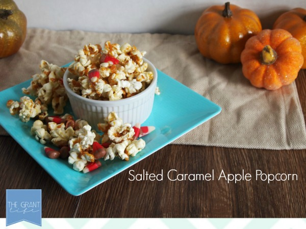 salted caramel apple popcorn looks so good 27 Amazing Apple and Pumpkin Recipes for Fall 71