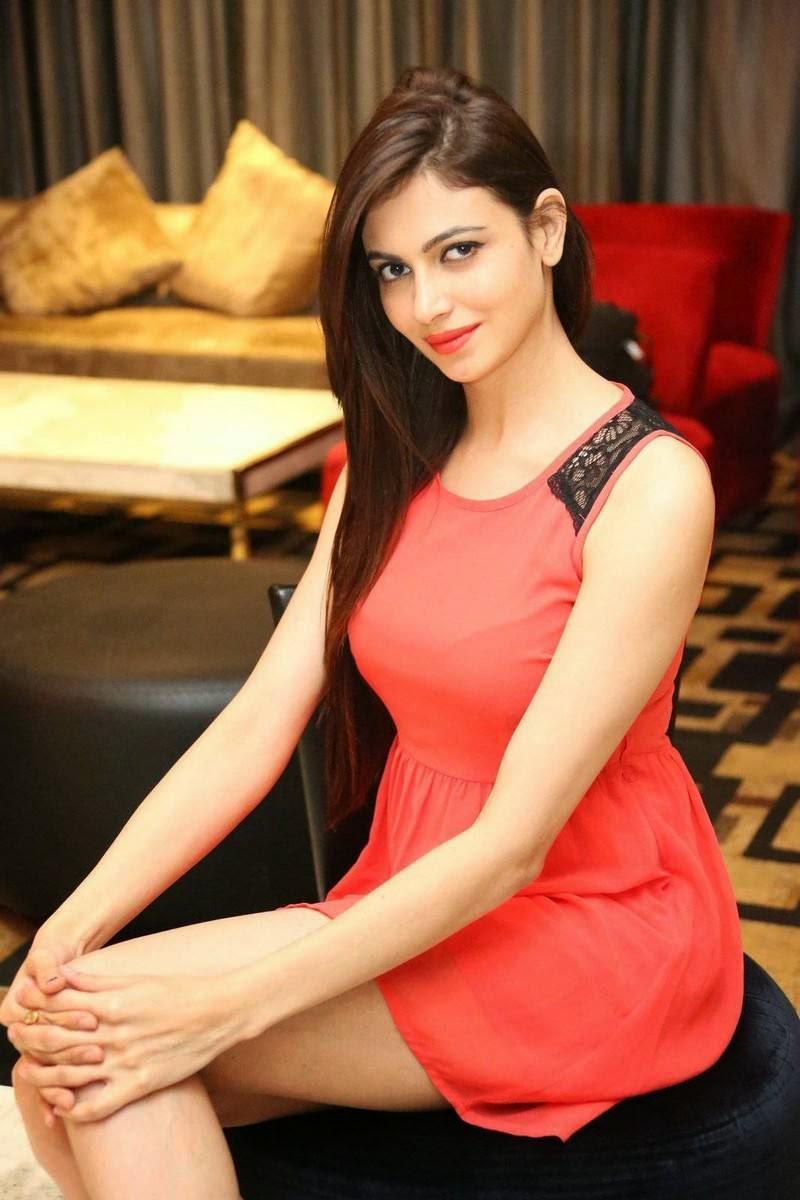 Actress Simran Kaur Mundi Pictures, Simran Kaur Mundi Long Legs hot Pics in Red short Dress & Boots
