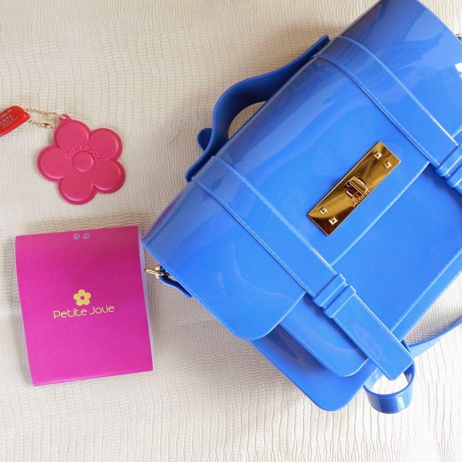 bolsa carteiro azul