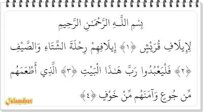 Kata Quraisy sendiri merujuk pada kaum Quraisy yakni kaum  Surah Al-Quraisy dan Artinya