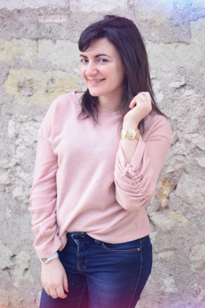 porter un pull rose Promod