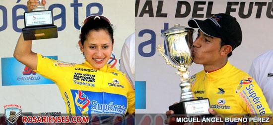 Angie Sanabria y Daniel Martínez, campeones de la Vuelta del Futuro | Rosarienses, Villa del Rosario