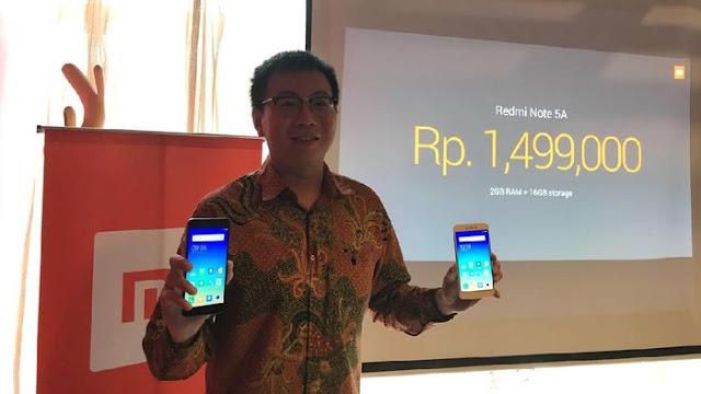 Xiaomi Redmi Note 5A Resmi meluncur di Indonesia, Berapa Harganya?