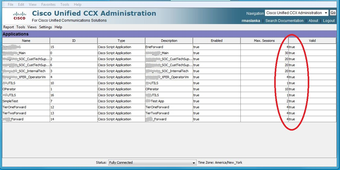 Web Maxtor: Cisco UCCX Application Manager in partial service