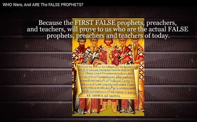 Because the FIRST FALSE prophets, preachers, and teachers, will prove to us who are the actual FALSE prophets, preachers and teachers of today.