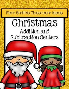 Christmas Math Quick and Easy to Prep Addition and Subtraction Center Games.