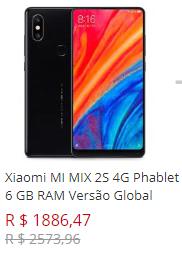 Xiaomi MI MIX 2S 4G Phablet 6 GB RAM Versão Global - PRETO