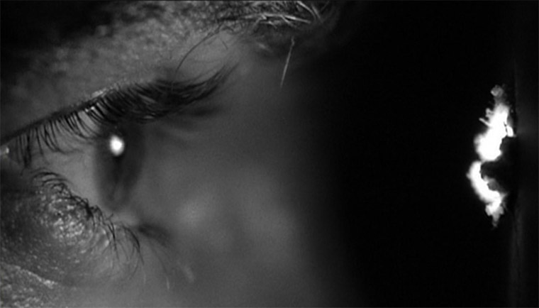 Anthony Perkins in PSYCHO (Alfred Hitchcock, 1960) / Quelle: Screenshot Universal Blu-ray (skaliert)