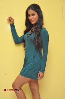 Telugu Actress Prasanthi Stills in Green Short Dress at Swachh Hyderabad Cricket Press Meet  0051.JPG