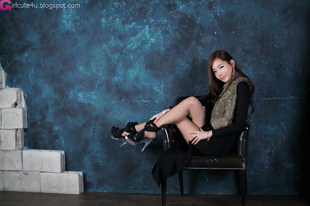 3 Lee Ji Min in Black Maxi-very cute asian girl-girlcute4u.blogspot.com