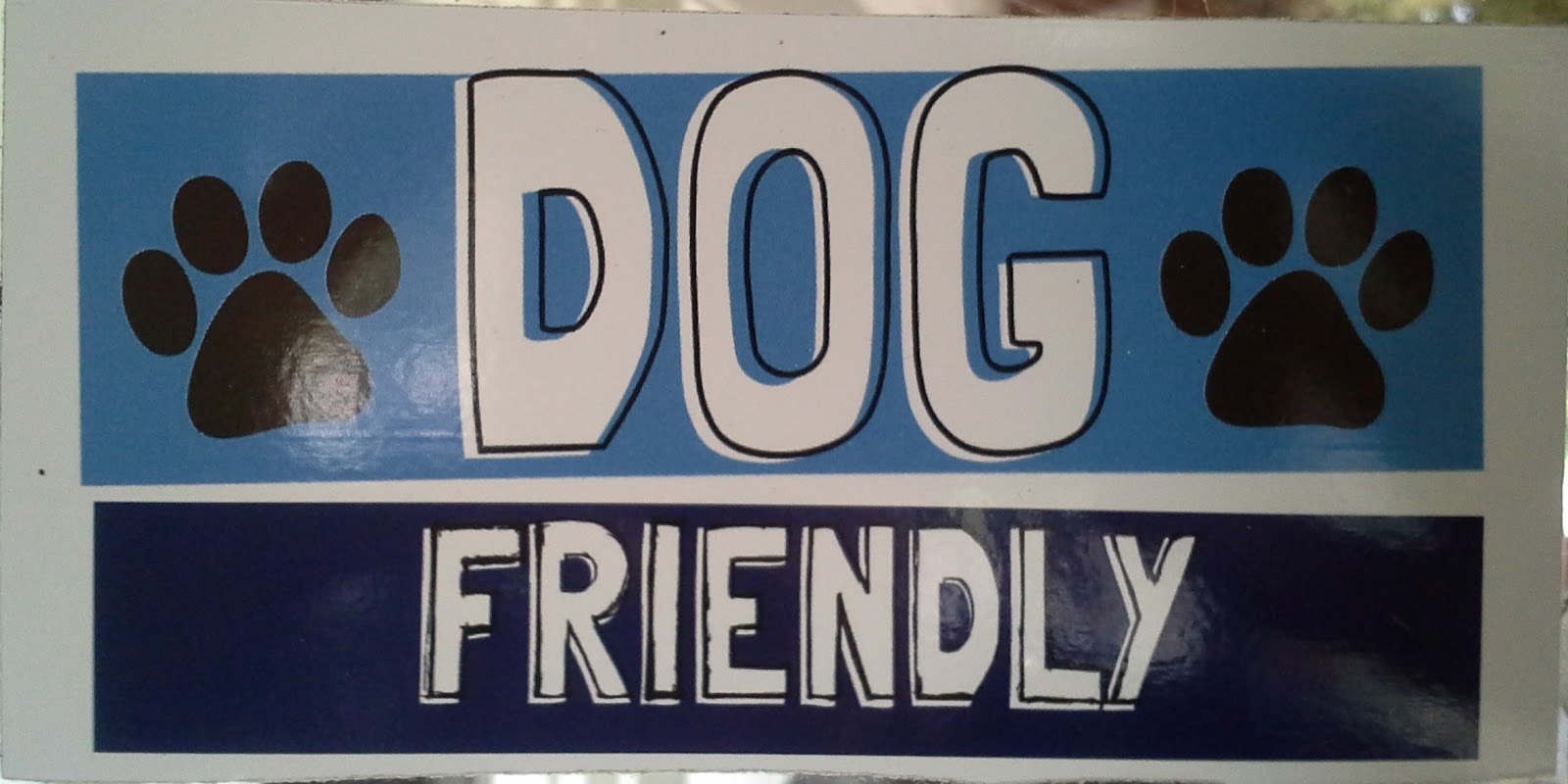 Dog Friendly Window Sticker