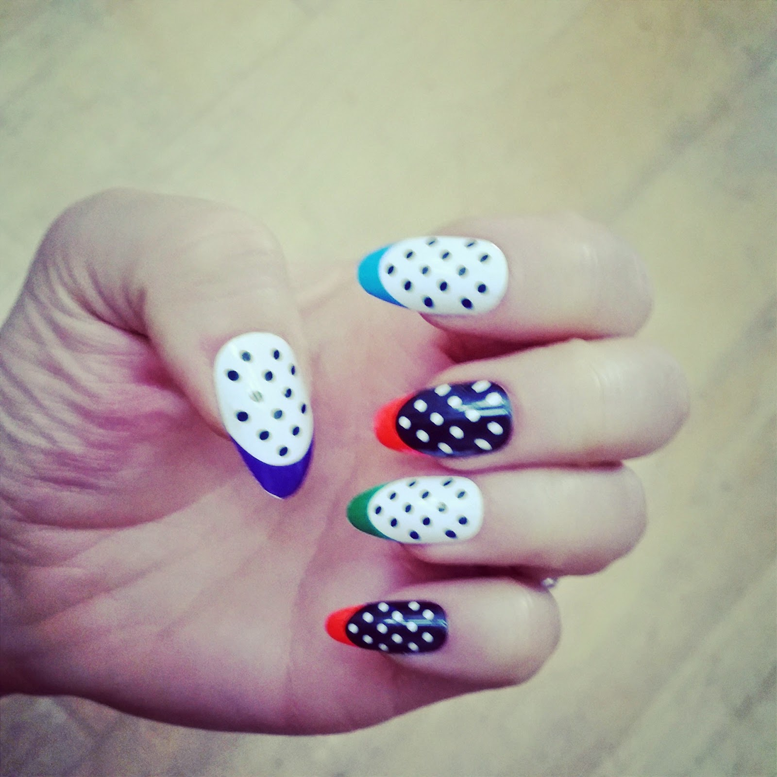 Likes and love house of holland stick on nail art in neon nibs prinsesfo Images