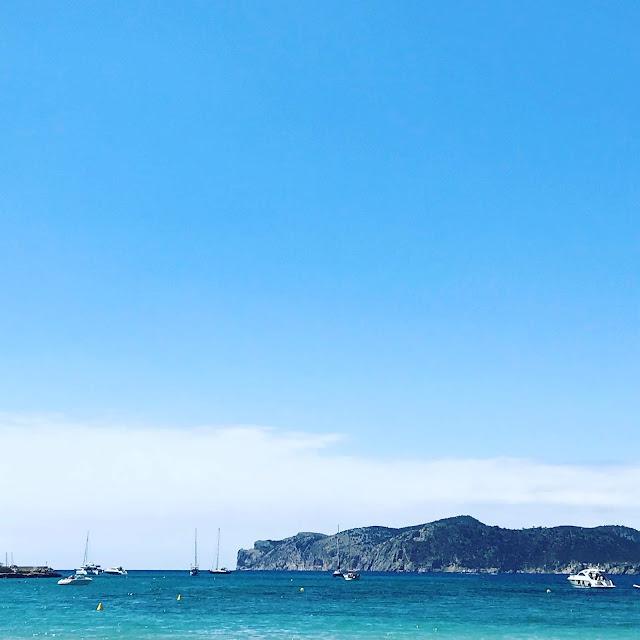 Majorca, sea, cliffs and boats in the sea