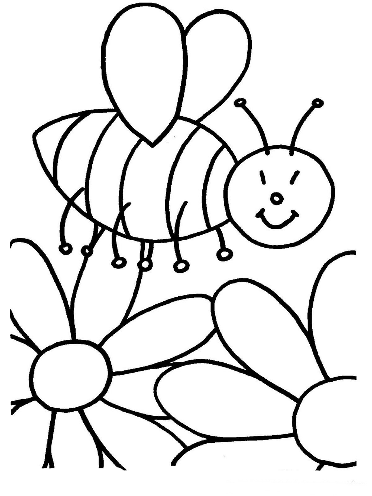 Bees Coloring Pages Realistic on 8 Spring Number Worksheets For Preschoolers