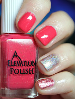 Elevation Polish SBP: Sunrise Alpenglow, Cupcake Polish Bubbles and Baubles, Girly Bits Xmas & O's
