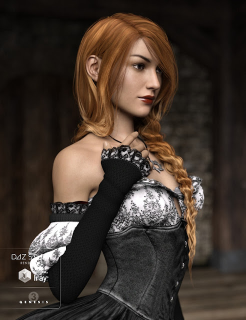 Careless Braid for Genesis 3 Female