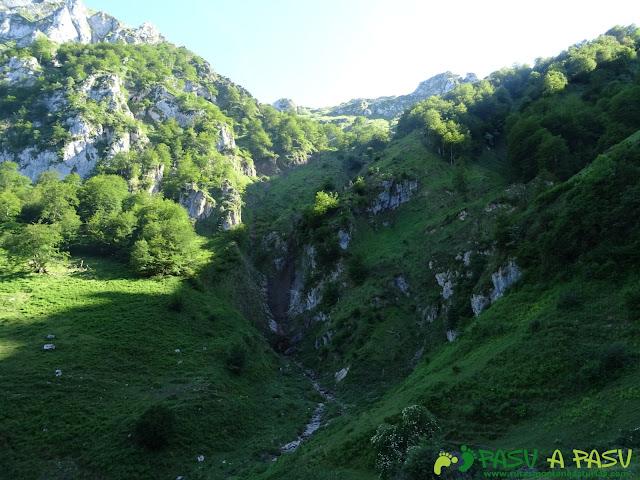 Ruta al Cueto Cerralosa y Jajao: Argayo en la zona de la Braña Sombejo