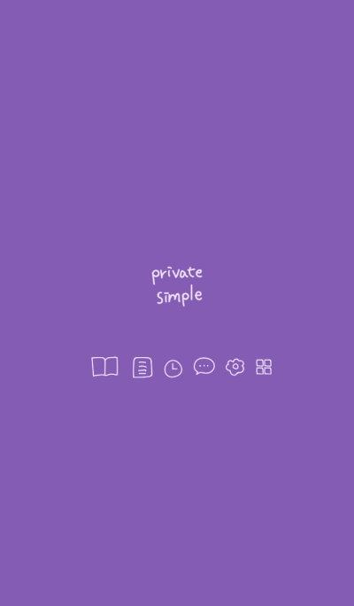 Private simple -purple-