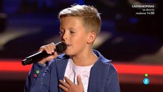 Pedro canta 90 minuntos de India Martínez pertosky la-voz-kids