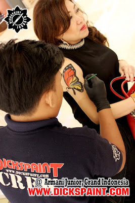 Body Painting Butterfly jakarta