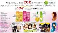 Logo Garnier : acquista 20€ in prodotti e ricevi subito uno sconto di 10€