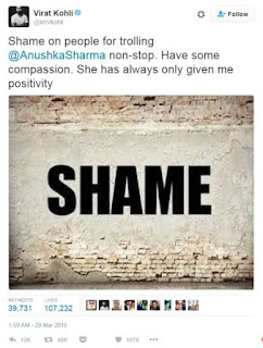 See Virat Kohli's tweet