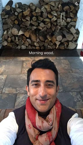 Rahul Khanna on Snapchat photo